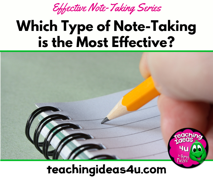 The Most Effective Note Taking Methods